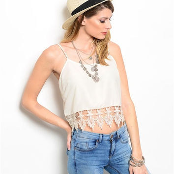 Dripping Lace Crop Top