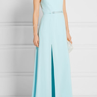Halston Heritage - Cutout crepe gown