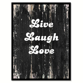 Live laugh love Motivational Quote Saying Canvas Print with Picture Frame Home Decor Wall Art