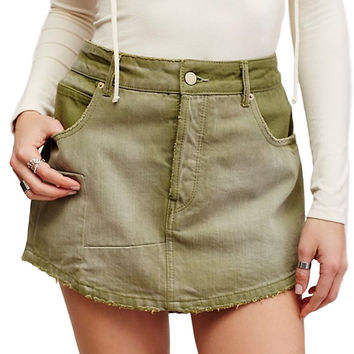 Free People Mia Denim Skirt