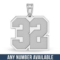 Sports Number Pendant Charm Necklace - PG71536