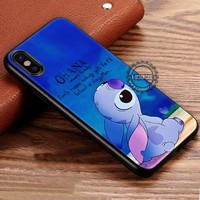 Ohana Lilo and Stitch Quotes iPhone X 8 7 Plus 6s Cases Samsung Galaxy S8 Plus S7 edge NOTE 8 Covers #iphoneX #SamsungS8