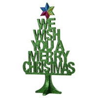 "Threshold™ ""Merry Christmas"" Tabletop Tree Décor - Green"