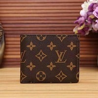 Louis Vuitton LV Men Fashion Leather Purse Wallet