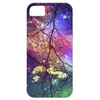 "iphone case ""look to the stars"" night, sky, trees from Zazzle.com"