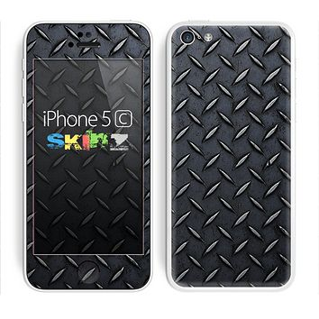 The Dark Diamond Plate Skin for the Apple iPhone 5c