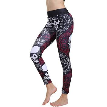 Women's Legging Skull Styles Digital Print