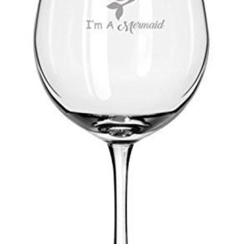 Of Course I Drink Like A Fish, I'm A Mermaid ★ Engraving ★ Mermaid Gift ★Wine Glass ★ Gifts for Her ★ Popular Item ★ Housewarming ★ Birthday Present ★ Mermaid Set ★ Engraving