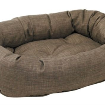 Bowsers Driftwood Linen Donut Dog Bed