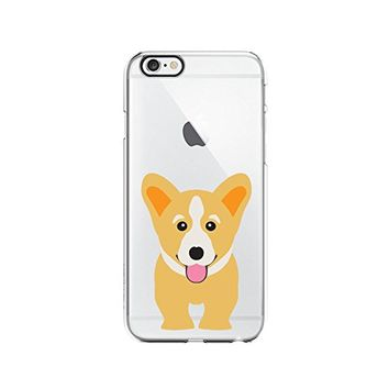 Cute Corgi Dog Transparent Silicone Plastic Phone Case for iphone 6PLUS _ LOKIshop (iphone 6 plus)