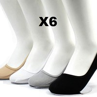 6 12 Pairs Womens No Show Liner Socks Footies Peds Boat Cotton NEW Solid Colors