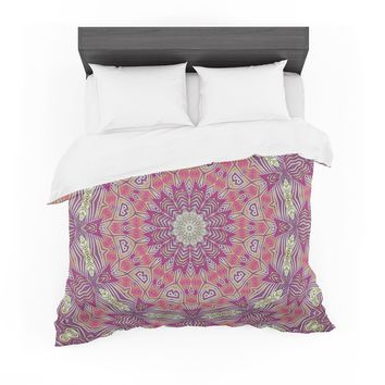 "Alison Coxon ""Gypsy Medallion Purple"" Pink Digital Featherweight Duvet Cover"