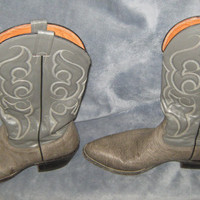 Vintage Nocona Blue or Grey Mens Cowboy Boots Made in USA