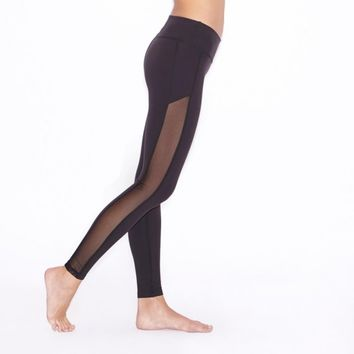 Crystal Mesh Long Legging