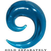 """1/2"""" Teal Ocean Waves Glass Spiral Taper 