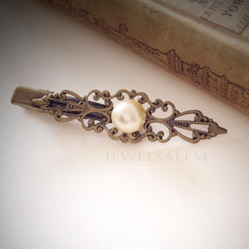 Ivory Pearl Hair Accessories Vintage Style Cream Pearl Hair Clip Bridal Hair Barrette Elegant Hair Pin Set Bridesmaid Gift Victorian JW