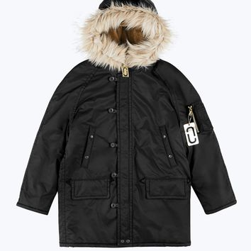 Snorkel Parka Coat with Faux Fur Hood | Marc Jacobs