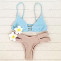 HOT SALE fashion sexy upper gray Chest hollow straps and under pink double strape