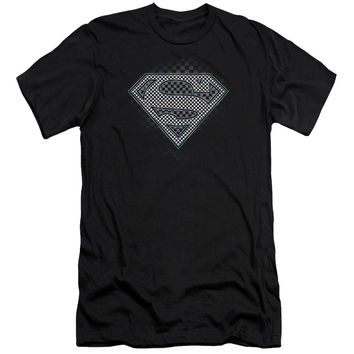 Superman - Checkerboard Short Sleeve Adult 30/1