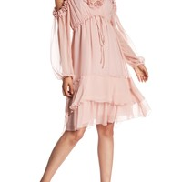 BCBG MAXAZRIA | Silk Cold Shoulder Dress | Nordstrom Rack