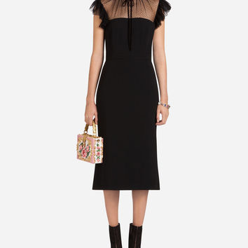 Cady And Tulle Dress - Women | Dolce&Gabbana