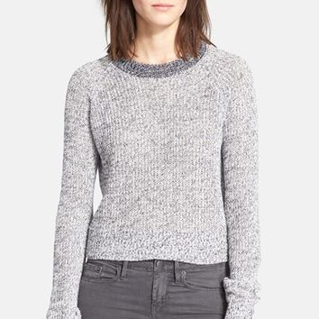 Women's Theory 'Brombly' Linen Blend Sweater