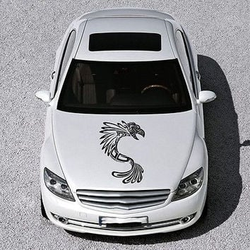 Car Hood Vinyl Decal Graphics Stickers Murals Design Tribal Dragon Tattoo SV4934