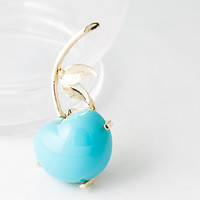 Vintage turquoise blue acrylic cherry brooch. Cute, pin-up, vintage lover perfect novelty figural brooch. Mid-century fruit costume jewelry