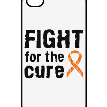 Fight for the Cure - Orange Ribbon Leukemia iPhone 4 / 4S Case  by TooLoud