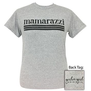 Girlie Girl Originals Mamarazzi Sports Grey T-Shirt