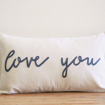 love you,typography pillow cover,phrase pillow cover,word pillow cover,natural,word pillow,rustic decor,kids decor,