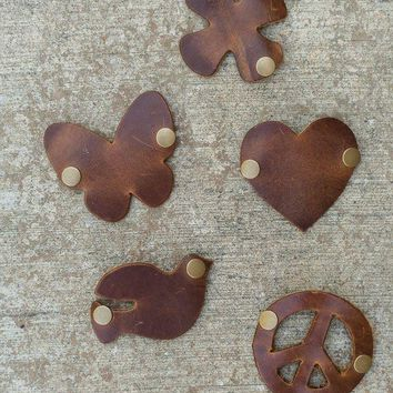 Make Your Own Leather Cuff - Charms