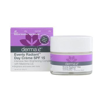 Derma E Evenly Radiant Day Creme Spf 15 - 2 Oz