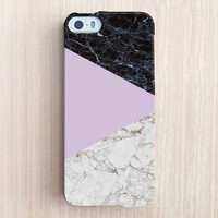 iPhone 6 Case, iPhone 6 Plus Case, iPhone 5S Case, iPhone 5 Case, iPhone 5C Case, iPhone 4S Case, iPhone 4 Case - Marble Color Block Pink