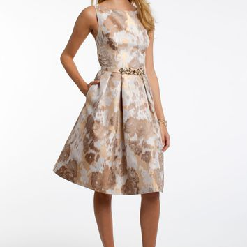 Fit and Flare Dress Brocade Dress