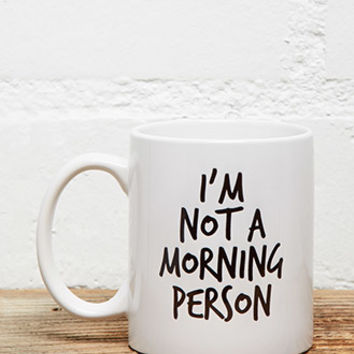 Tickled Teal Not a Morning Person Mug