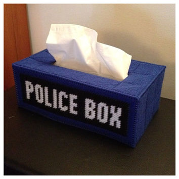Doctor Who Tardis Police Box Tissue Cover