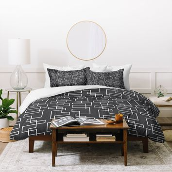 Heather Dutton Transit Black Duvet Cover