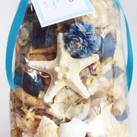 Manu Home Ocean Potpourri Bag ~ Over 12oz of Starfish, Seashells and other Natural Botanicals ~ Beautiful Ocean Décor & Ocean Breeze Scented Botanicals ~ High Quality Oils Used ~ The Scent is Fresh ~ Beach Decor Perfect for Home or Office ~ Nautical Decor