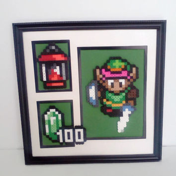 Legend of Zelda Triple Mat Wall Frame (Green)