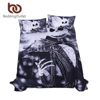 BeddingOutlet Bedding Nightmare Before Christmas Cool Bed Linen Printed Soft Twin Full Queen King Sheet Set