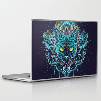 Cat Mandala Laptop & iPad Skin by printapix