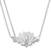 Alex and Ani Precious Metals Symbolic Lotus Peace Petals Pull Chain Necklace, 10-24""