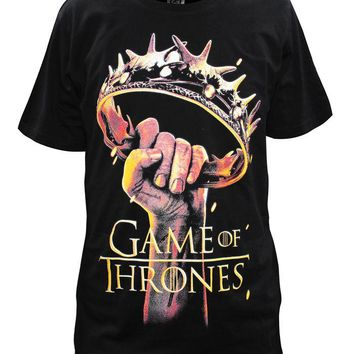 Cosplaydiy Game of Thrones T shirt crown of the king Printed Tees Men Cool Fashion Tops Winter Is Coming Male t-shirt Clothing