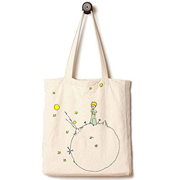 Andes Handmade from 12-ounce Pure Cotton Canvas Tote Bag, The Little Prince