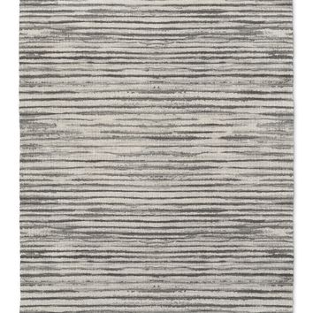 WABI SABI STRIPE GREY Area Rug By Becky Bailey