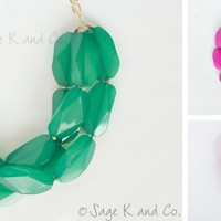 Double or Triple Strand Statement Necklace - A Daily Boutique & Handmade Deal Website + Weekly Giveaways