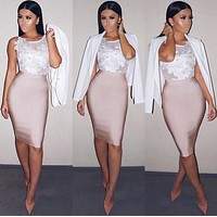 New Fashion 11 Colors Sexy Knee Length Bandage Skirt New Arrival 2016 Women Elastic Bodycon Pencil Skirts 60cm