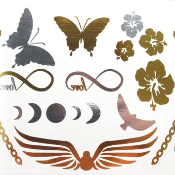 Flash Metallic Tattoo 14 | Nature Inspired Temporary Tattoos
