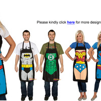 New Superhero Superman Funny Apron Bib Gift Home Kitchen BBQ Barbecue Party